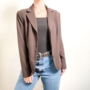 Vintage Brown Oversized Boxy Women's Blazer